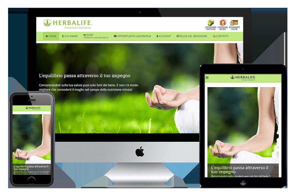 Sito web Herbalife responsive